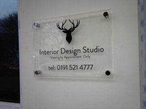 Perspex stand-off signs